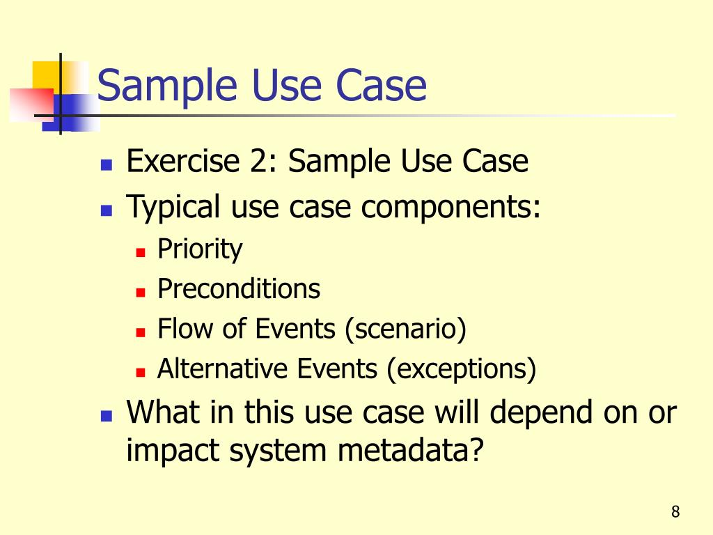 Sample Use Case