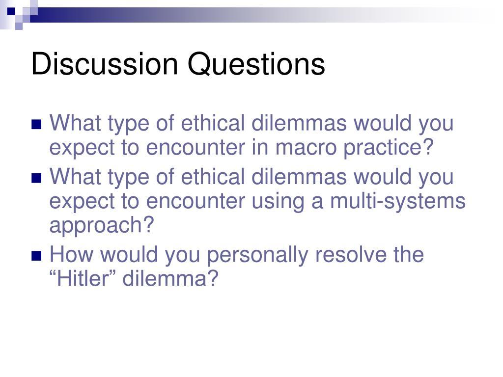 Ethical dilemmas in social work practice