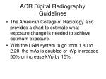 acr digital radiography guidelines