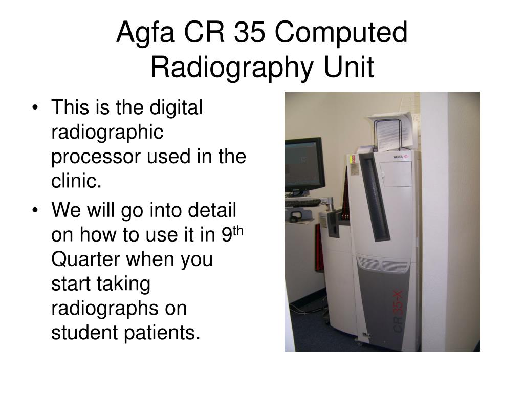 Agfa CR 35 Computed Radiography Unit
