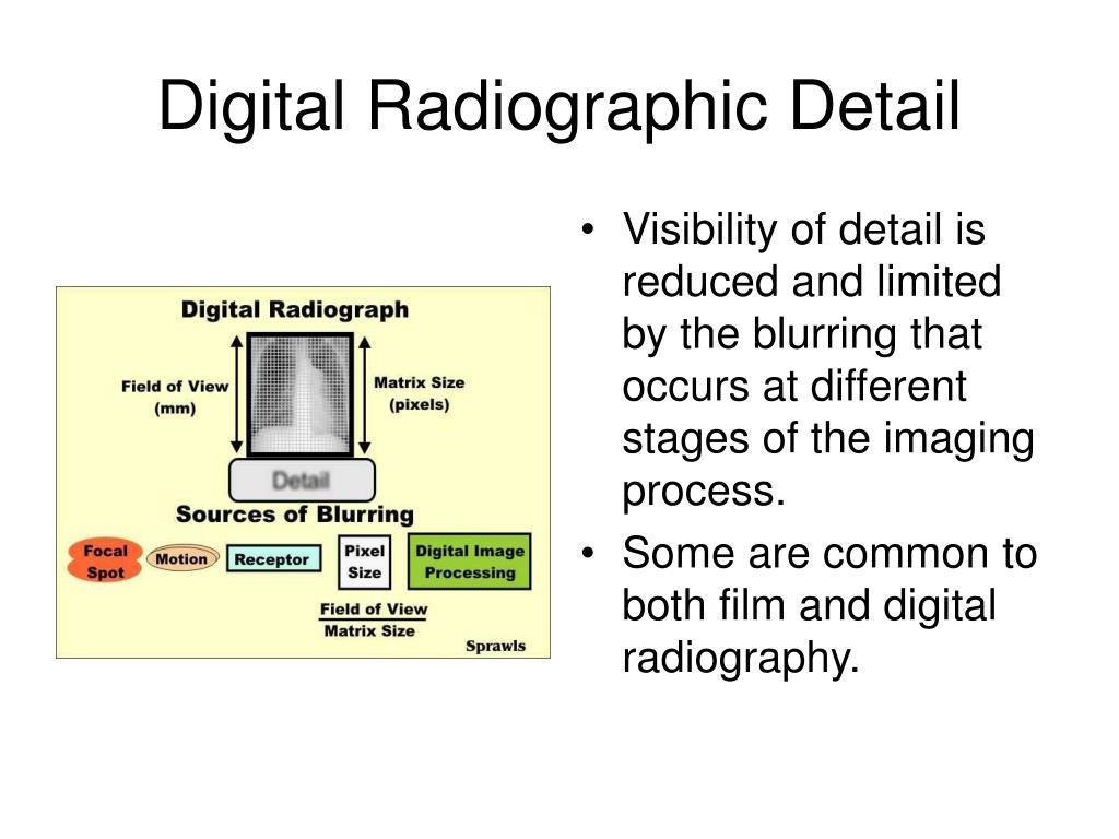Digital Radiographic Detail