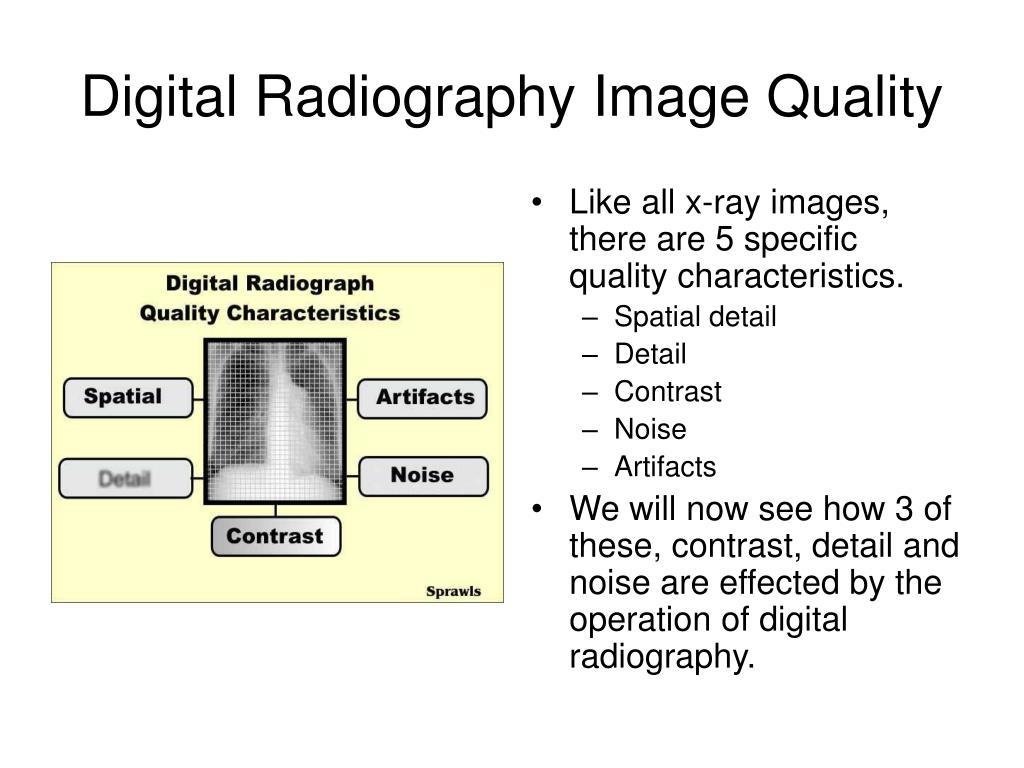 Digital Radiography Image Quality