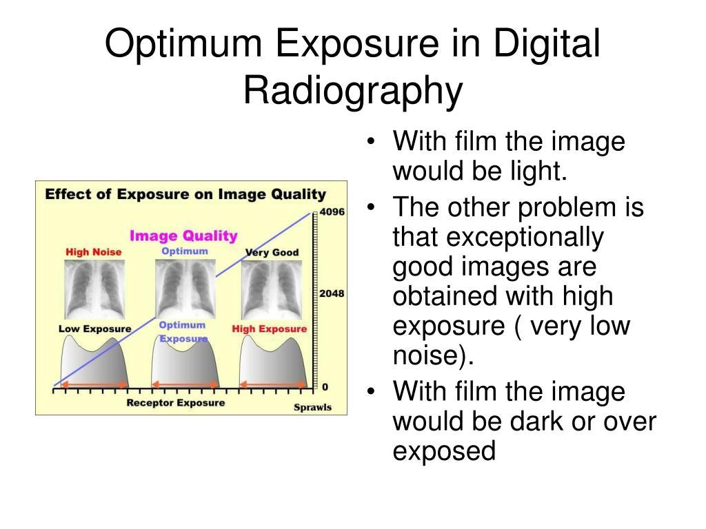 Optimum Exposure in Digital Radiography