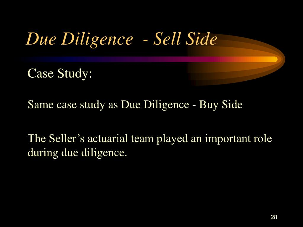 Due Diligence  - Sell Side