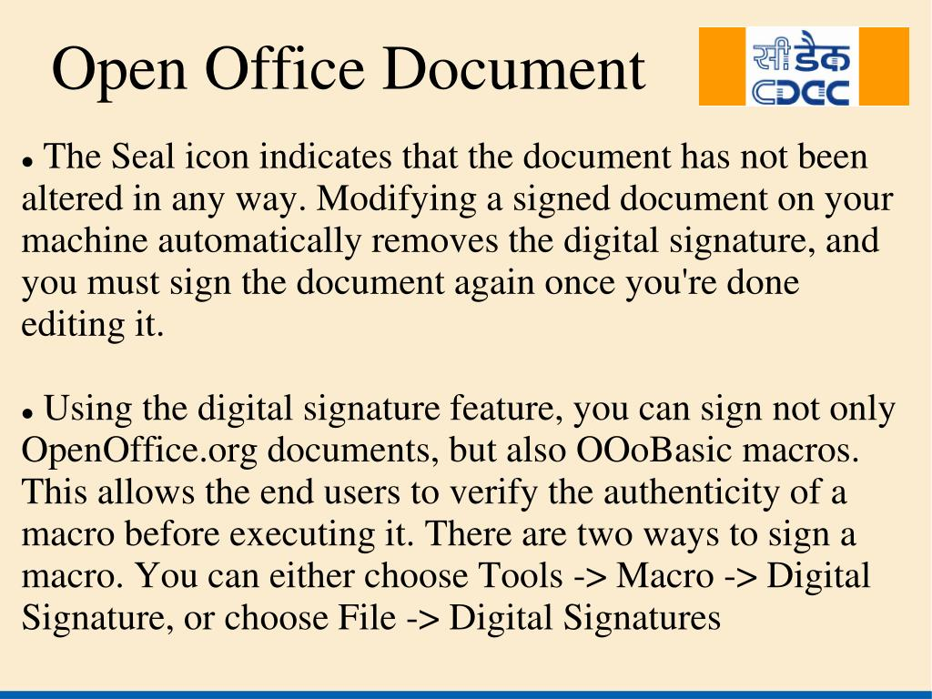 The Seal icon indicates that the document has not been altered in any way. Modifying a signed document on your machine automatically removes the digital signature, and you must sign the document again once you're done editing it.