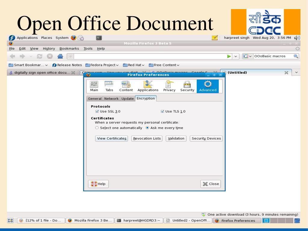 Open Office Document