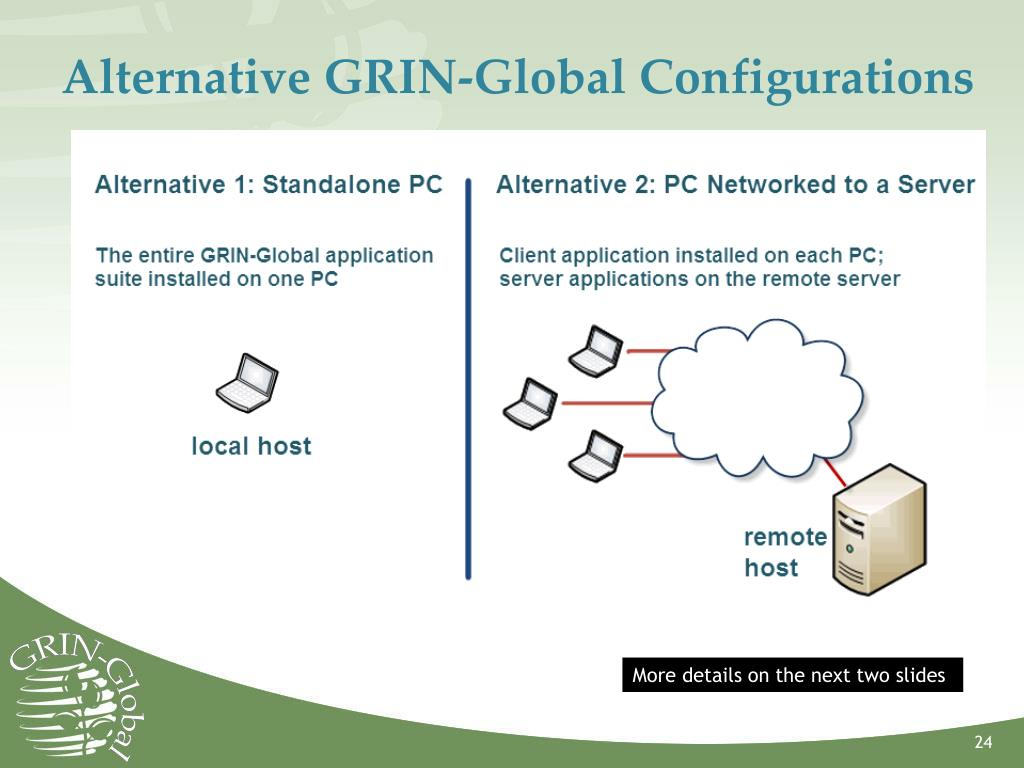 Alternative GRIN-Global Configurations