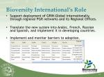 bioversity international s role