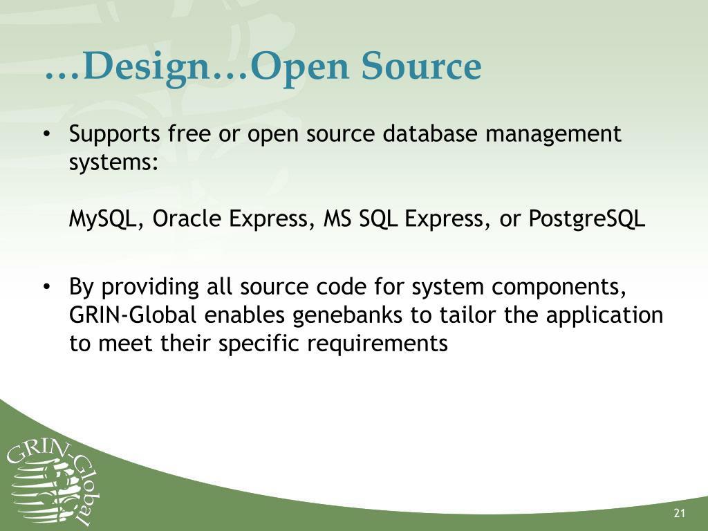 …Design…Open Source