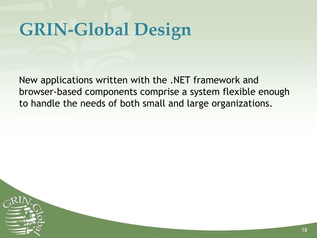 GRIN-Global Design