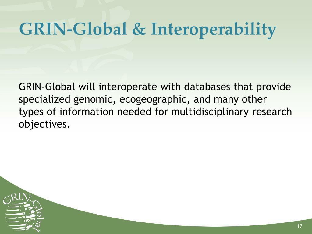 GRIN-Global & Interoperability