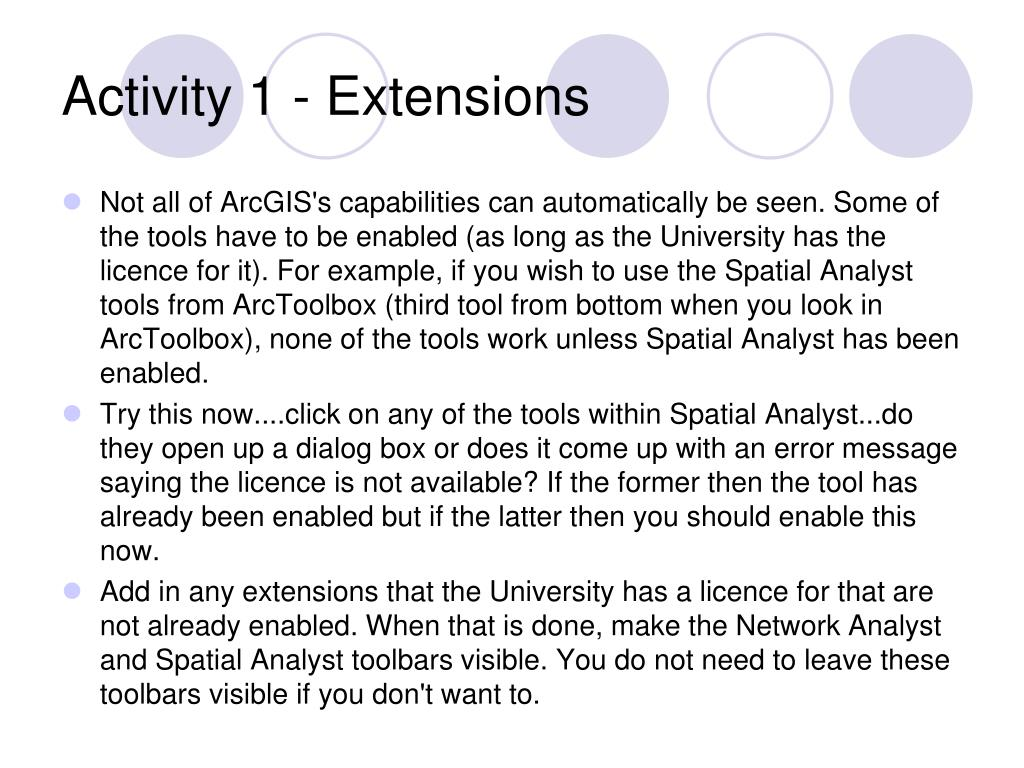 Activity 1 - Extensions
