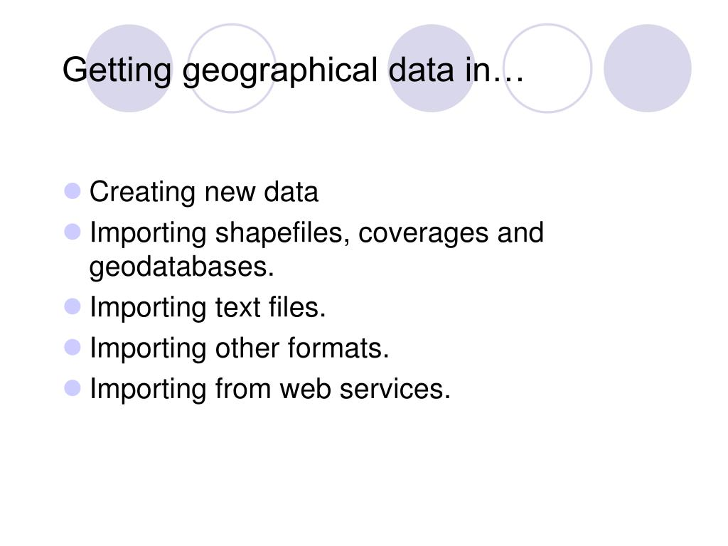 Getting geographical data in…