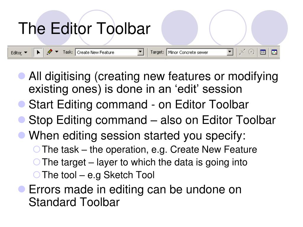 The Editor Toolbar
