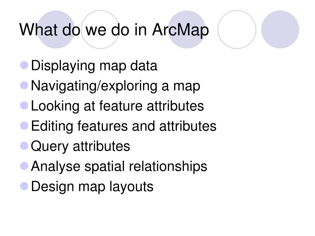 What do we do in ArcMap