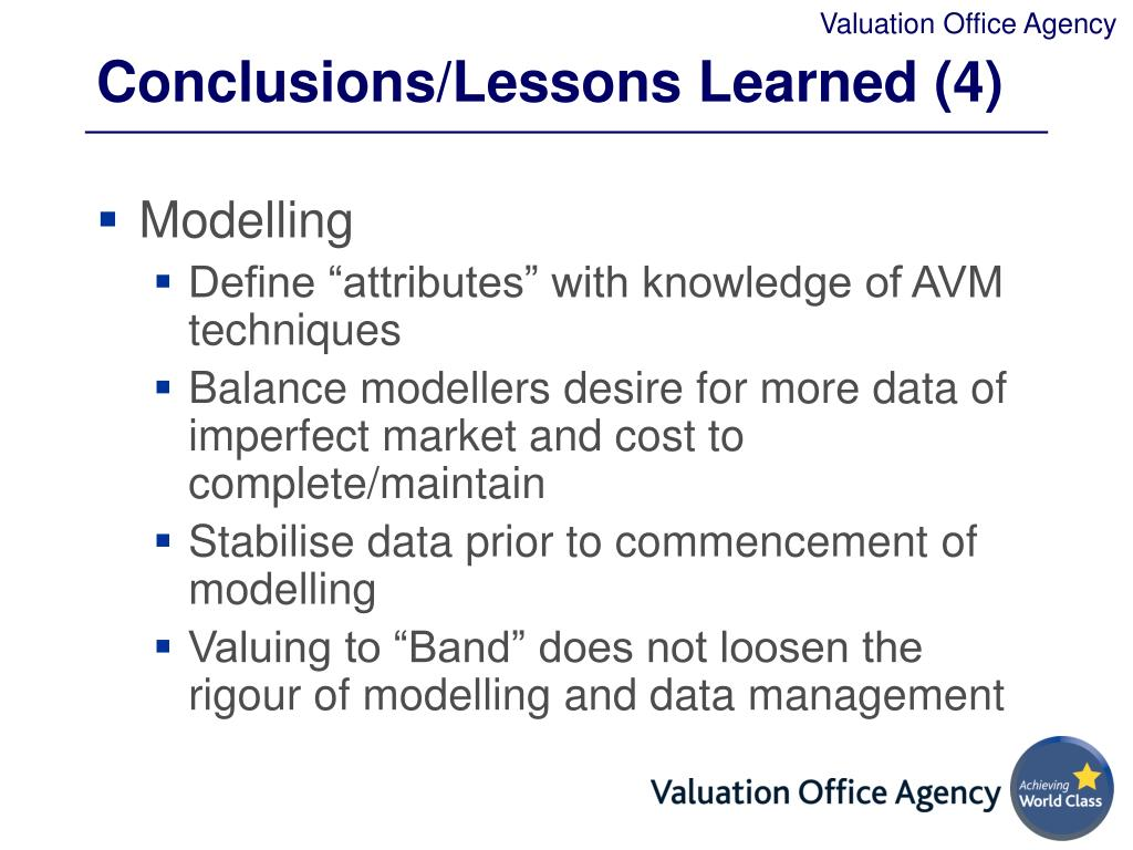 Conclusions/Lessons Learned (4)