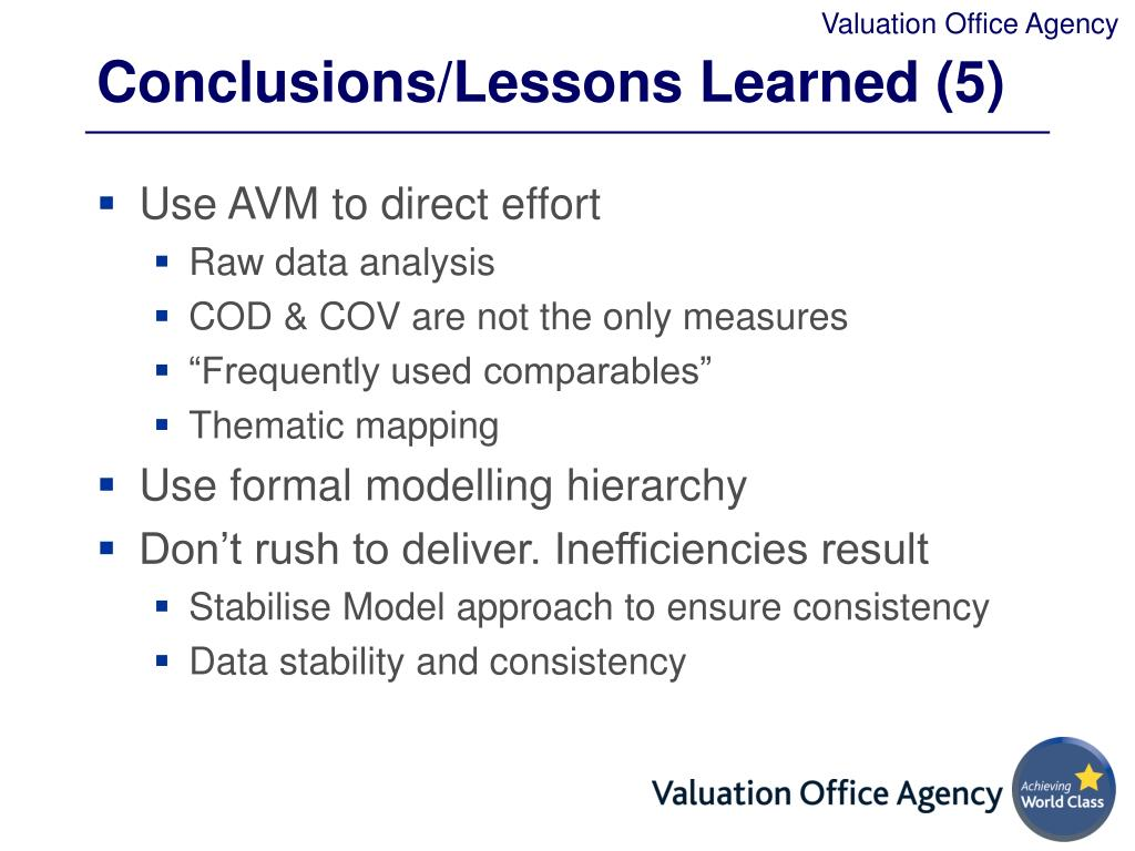 Conclusions/Lessons Learned (5)