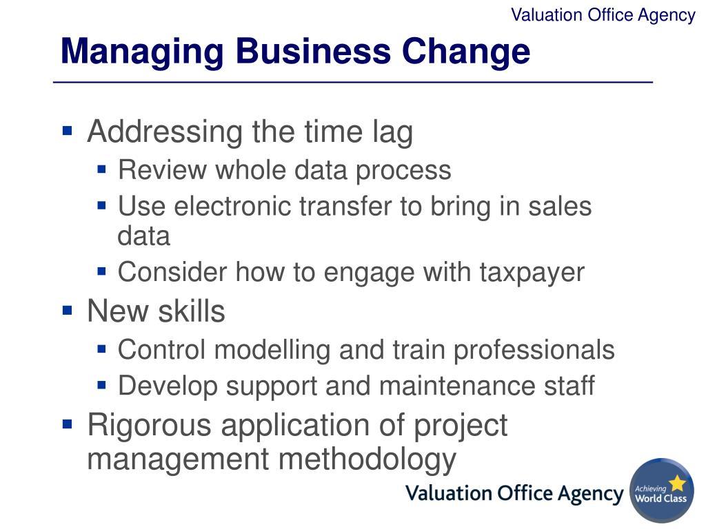 Managing Business Change