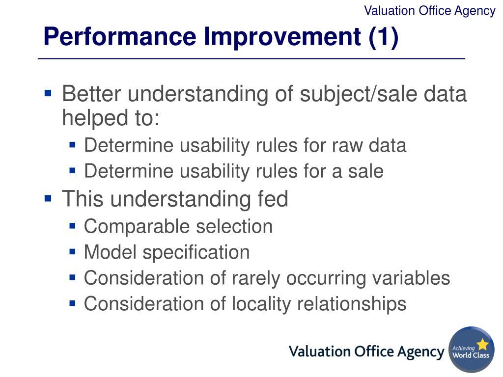 Performance Improvement (1)