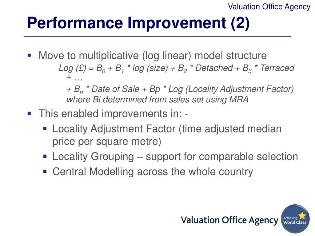 Performance Improvement (2)