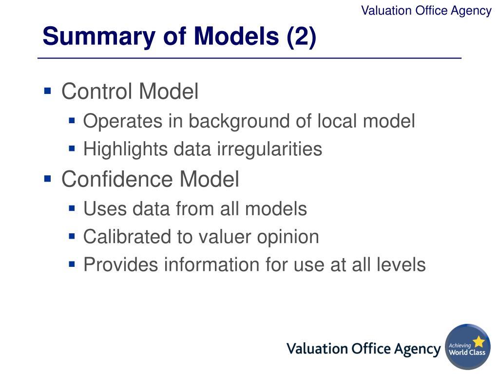 Summary of Models (2)