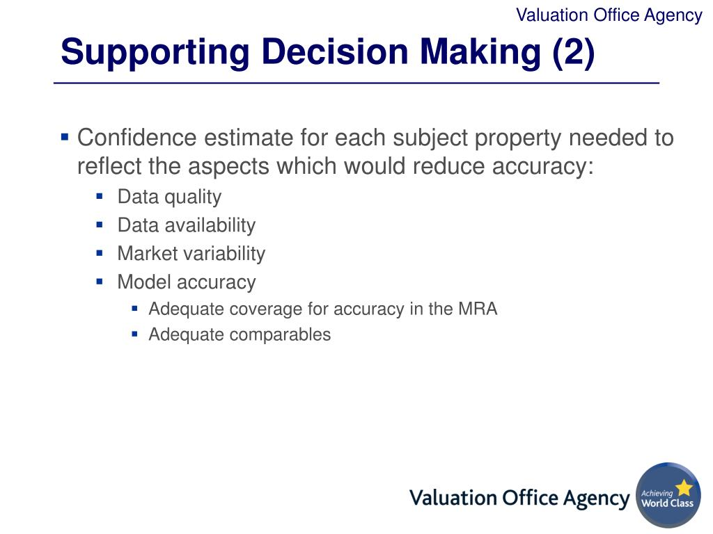 Supporting Decision Making (2)