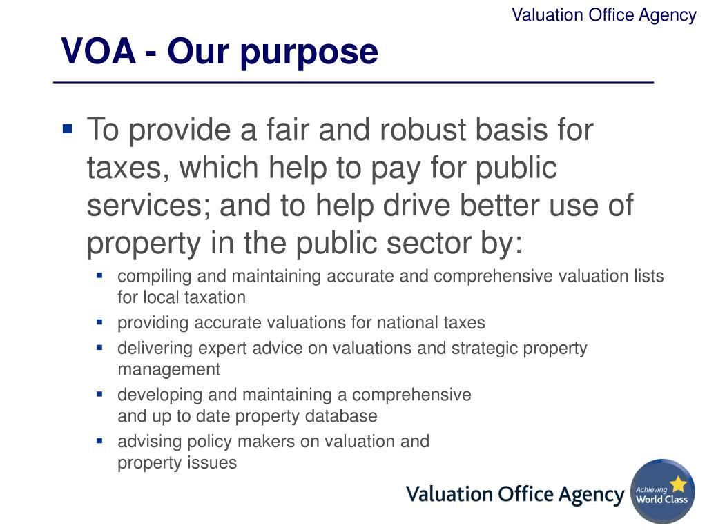 VOA - Our purpose