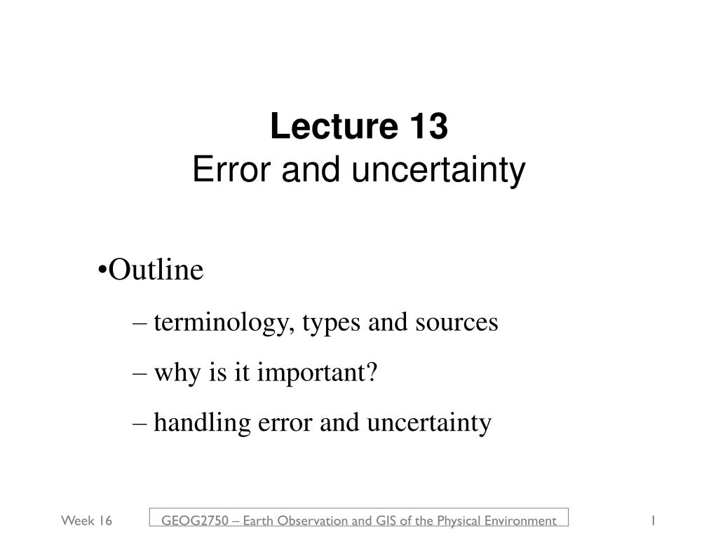 Lecture 13