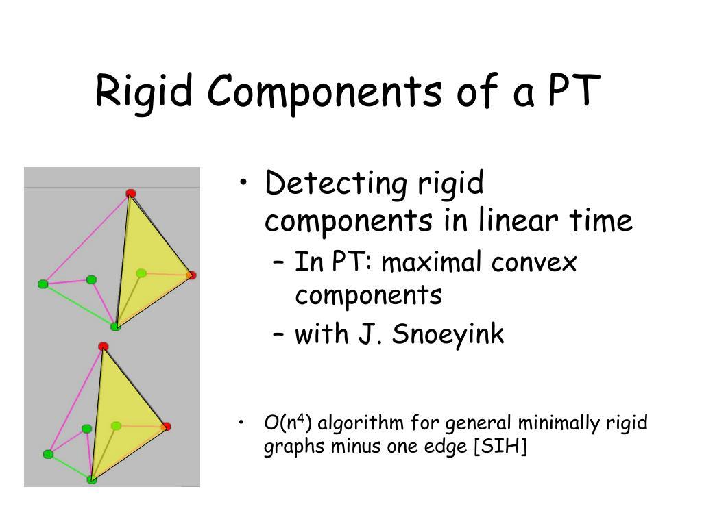 Rigid Components of a PT