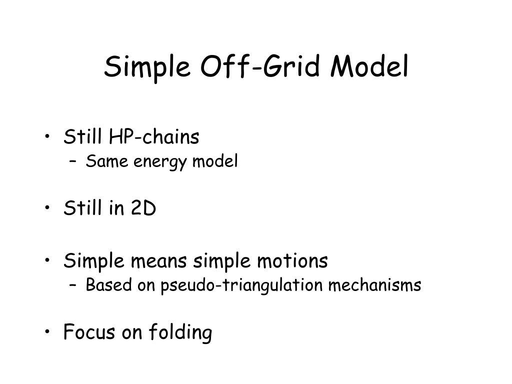 Simple Off-Grid Model