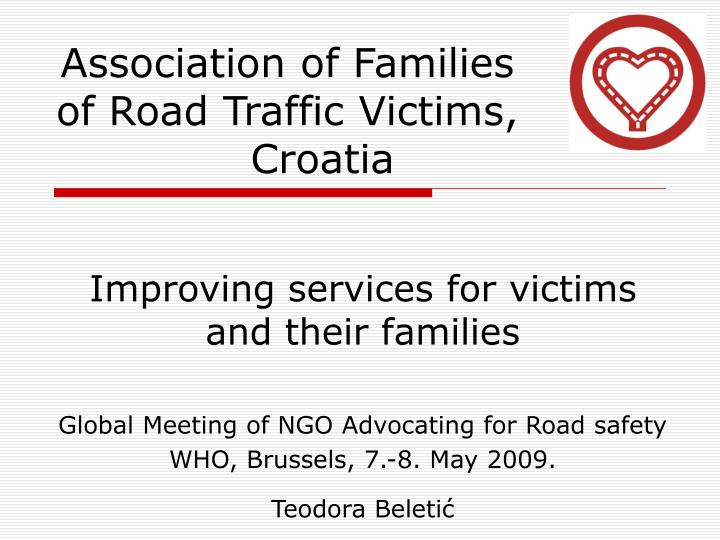 Association of families of road traffic victims croatia