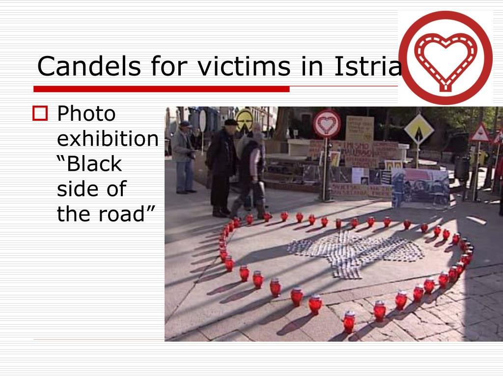 Candels for victims in Istria