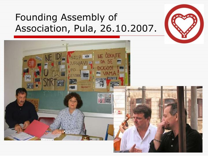 Founding assembly of association pula 26 10 2007