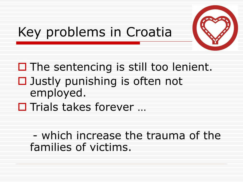 Key problems in Croatia