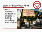 light of hope with fevr