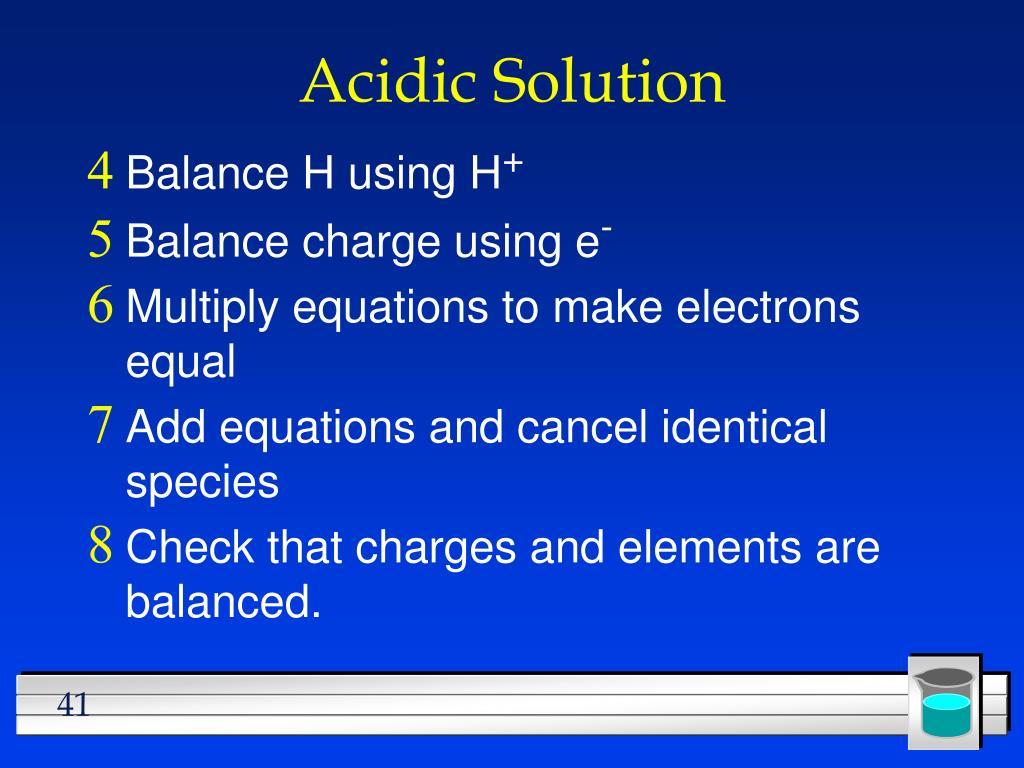Acidic Solution