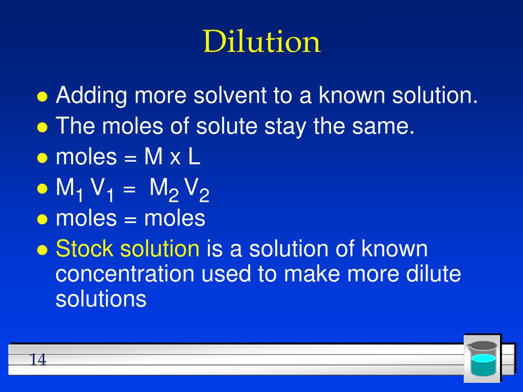 Dilution