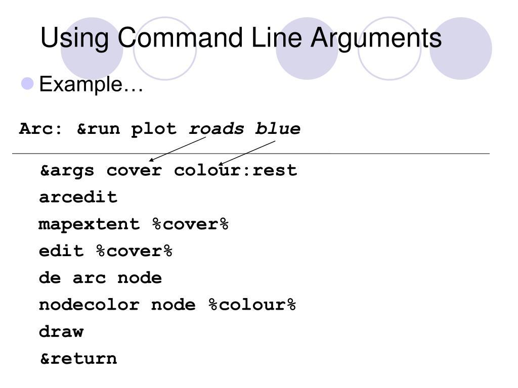 Using Command Line Arguments