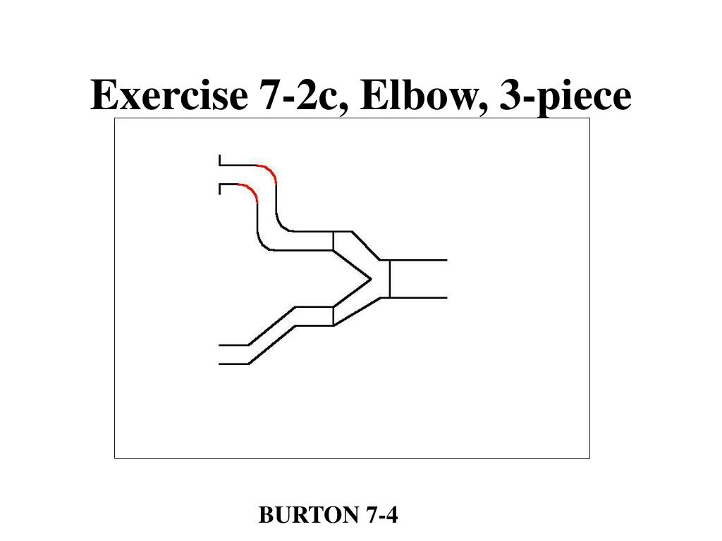 Exercise 7-2c, Elbow, 3-piece