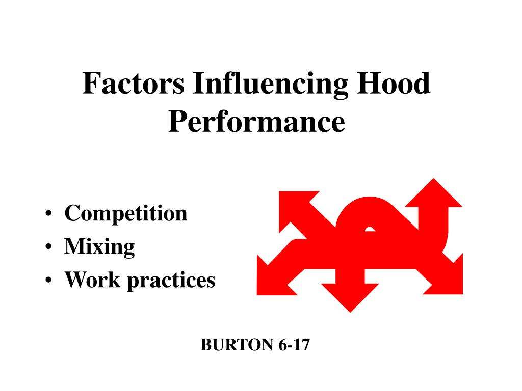Factors Influencing Hood Performance