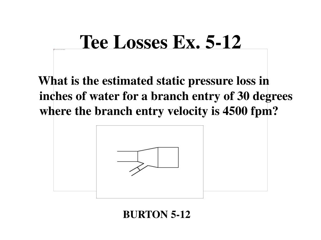 Tee Losses Ex. 5-12