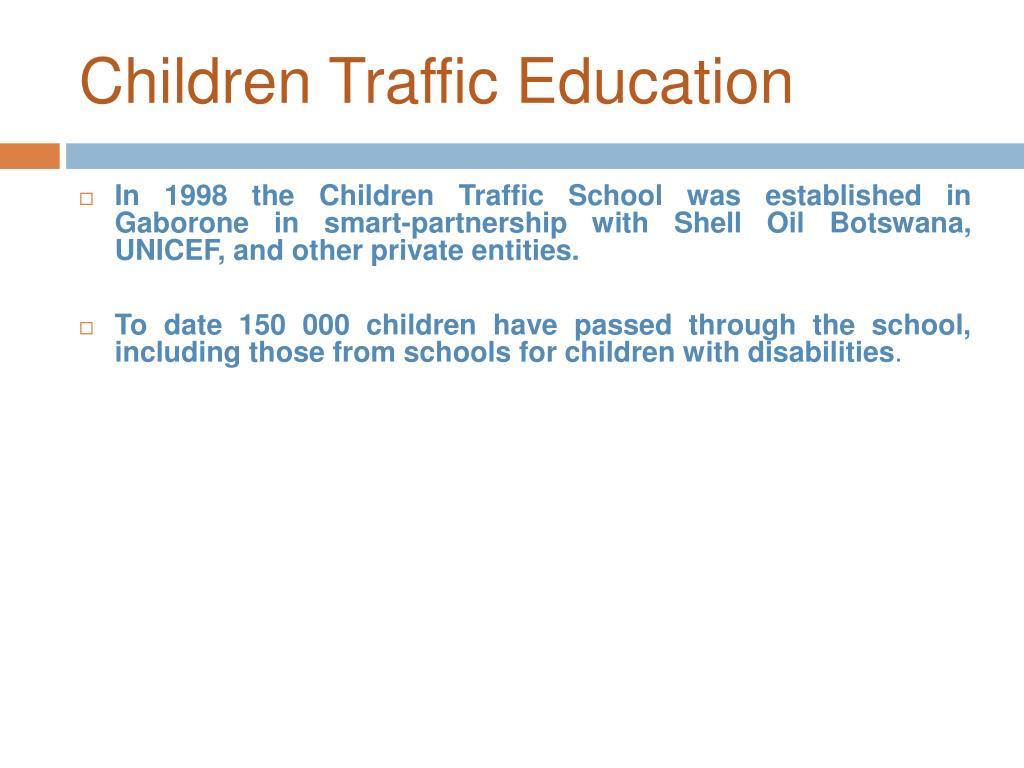 Children Traffic Education