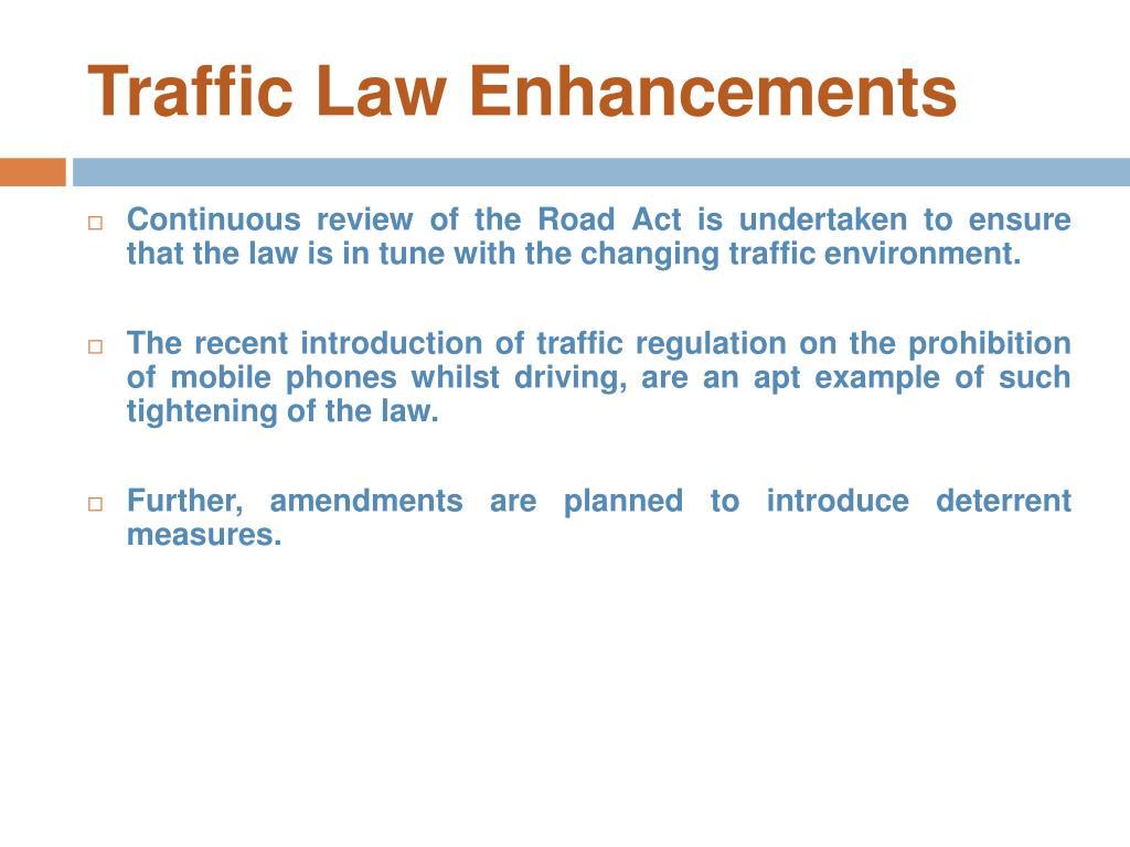 Traffic Law Enhancements