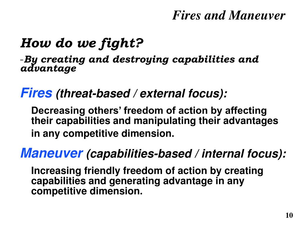 Fires and Maneuver
