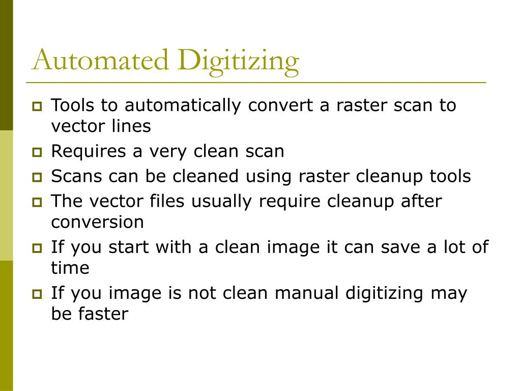 Automated Digitizing