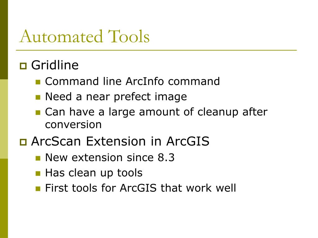Automated Tools