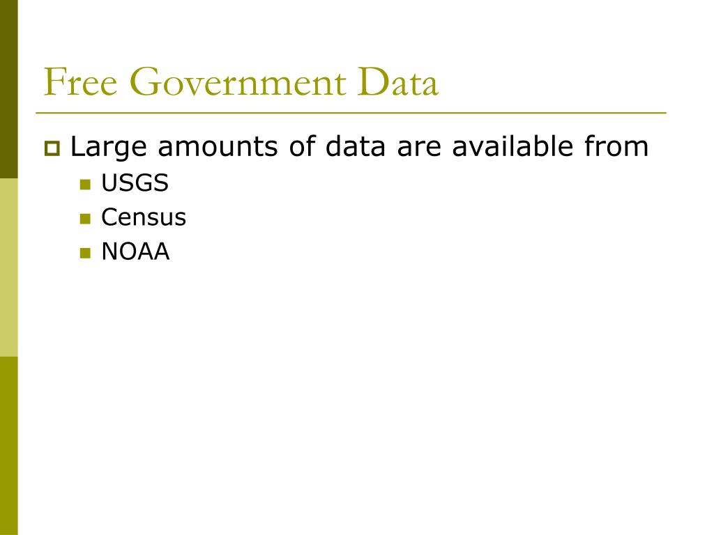 Free Government Data