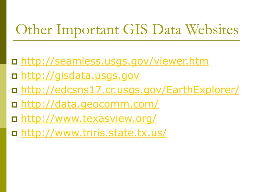 Other Important GIS Data Websites