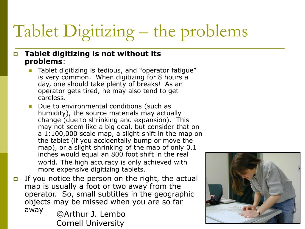 Tablet Digitizing – the problems