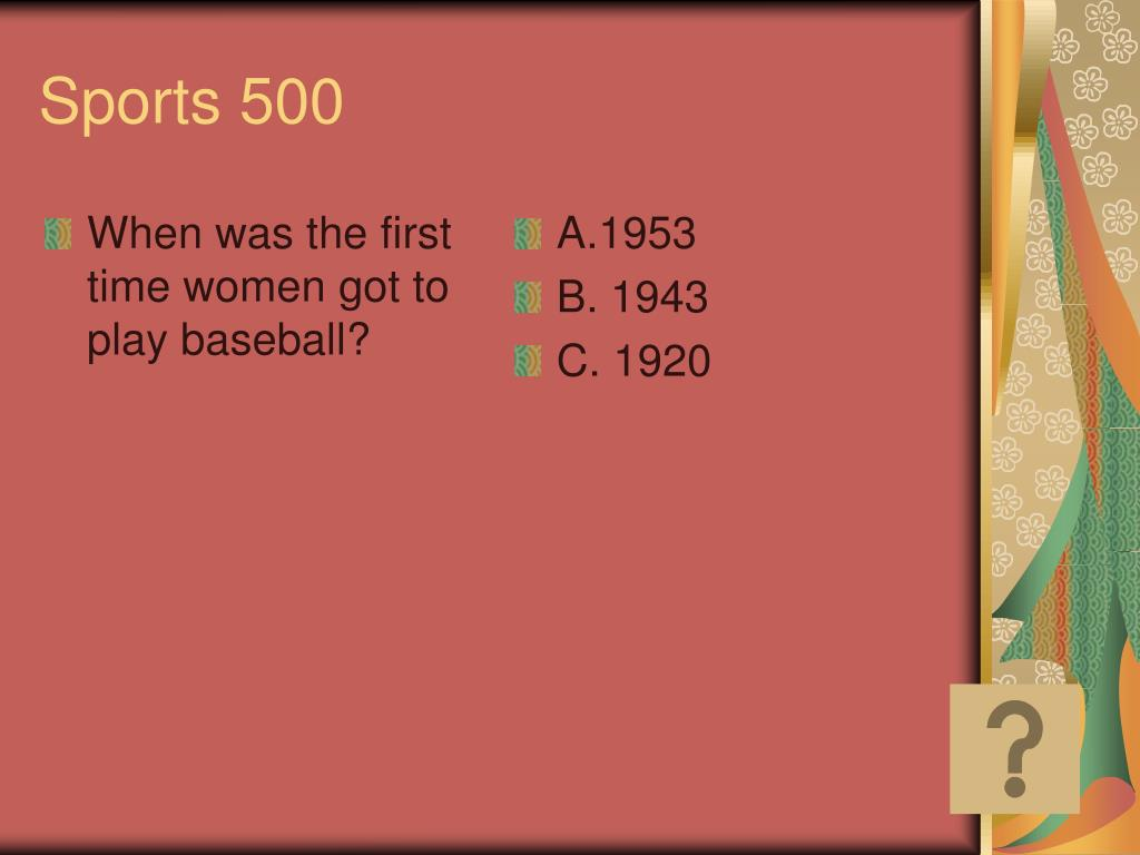 When was the first time women got to play baseball?